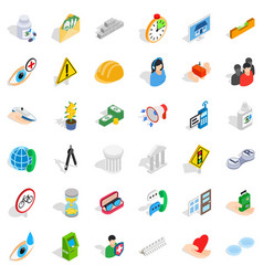 person care icons set isometric style vector image vector image