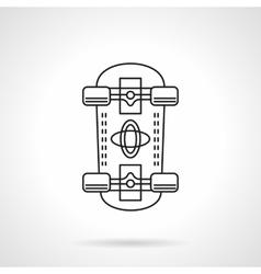 Skateboarding flat line icon vector image vector image