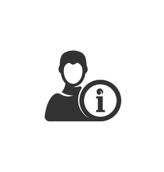 User Info icon isolated on a white background vector image