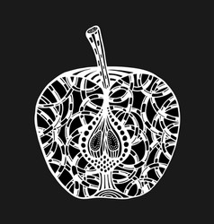 apple for coloring book vector image
