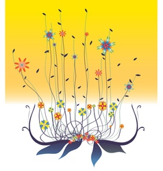 floral swirl background vector image vector image