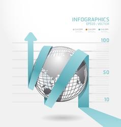 infographic blue arrow diagram chart vector image vector image