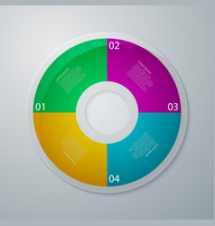 infographics circle vector image