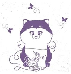 kitten silhouette vector image