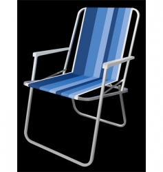 picnic chair vector image vector image
