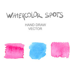 watercolor spots vector image vector image