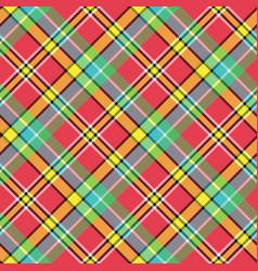 Madras diagonal plaid pixeled seamless pattern vector