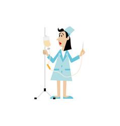 nurse with a dropper vector image