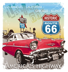 route66 Classic car vector image vector image