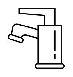 a wastafel head with outline line style vector image