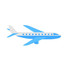Aircraft flat airplane icon vector