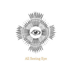 All seeing eye eye providence image vector
