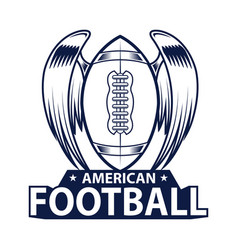 American football logo american sport style vector