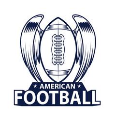 American football logo sport style vector