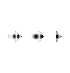 arrows in a dots design arrows in a row arrow vector image
