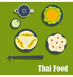Asian lunch of thai cuisine vector image