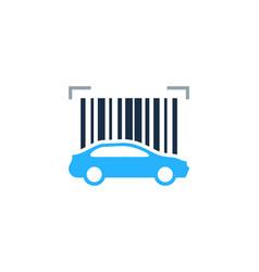 automotive barcode logo icon design vector image
