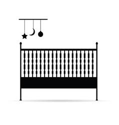 baby crib vector image