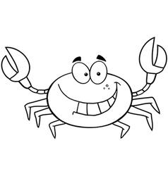 Beach crab cartoon vector image