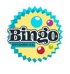 bingo game isolated icon gambling and casino club vector image