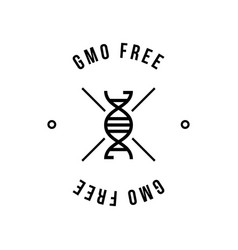 Black and white colored gmo free emblems vector