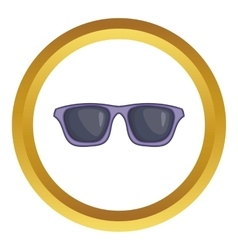 Black sunglasses icon vector