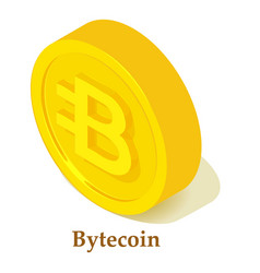bytecoin icon isometric style vector image