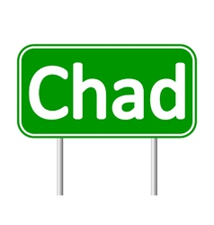 Chad road sign vector