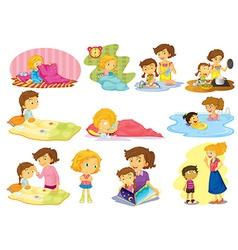 Children and activities vector image