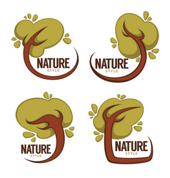 collection of cartoon tree frames for your eco vector image