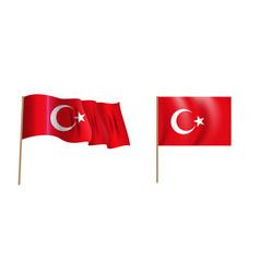 colorful naturalistic waving flag turkey vector image