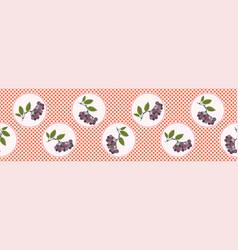 Cute aronia berries polka dot vector