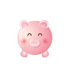 cute piggy bank icon design vector image