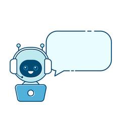cute smiling robotchat bot vector image