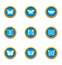 cutworm icons set flat style vector image