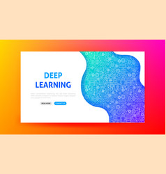 deep learning landing page vector image