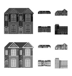 Design of building and front sign vector