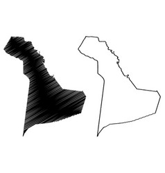 Eastern province map vector