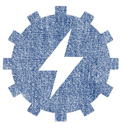 Electric energy gear fabric textured icon vector