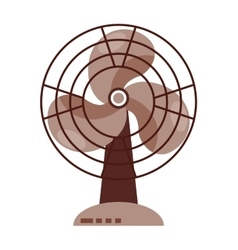 electric fan isolated icon design vector image