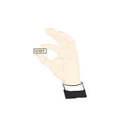 finger signal hand signal vector image