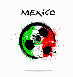 Flag of mexico as an abstract soccer ball vector