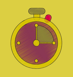 flat shading style icon stopwatch vector image