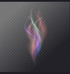 fluid magic smoke on a dark background vector image