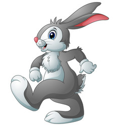 funny rabbit cartoon vector image
