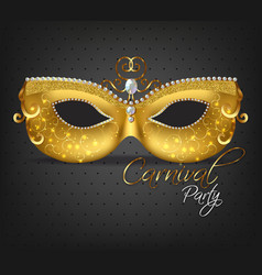 golden ornamented mask realistic stylish vector image