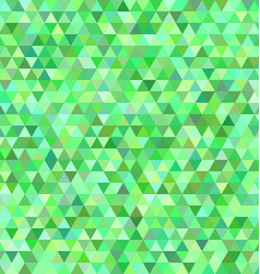 Green regular triangle mosaic background design vector image