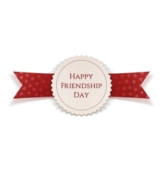 Happy Friendship Day Banner with Ribbon vector image