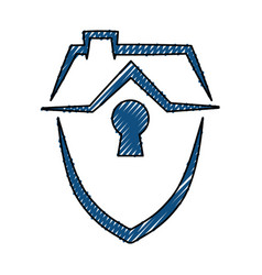 house insurance symbol vector image