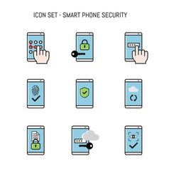 Icon collection pack with smart phone mobile vector